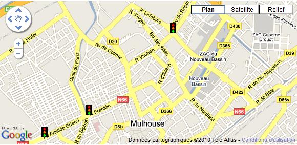 Radars pour feux tricolores à Mulhouse et Colmar
