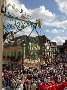 La fête des vignerons d'Eguisheim et le sentier viticole du Schenkenberg