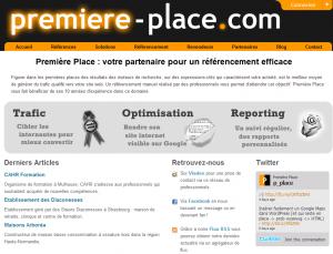 Référencement : Nouveau site Web de Première Place