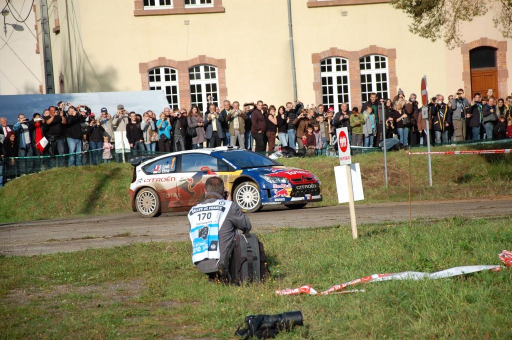 Arrivée de Sébastien Loeb