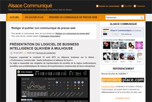 Alsace Communiqué : site de communiqués Web pour l'Alsace