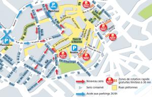 Nouveau plan de circulation du centre ville de Mulhouse