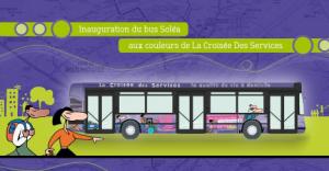 Inauguration : un bus Soléa aux couleurs de l'aide à domicile