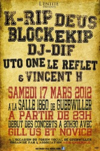 K-rip : concert de rap à Guebwiller le samedi 17 mars 2012
