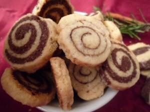 bredele marbrés chocolat/ vanille et à la cannelle