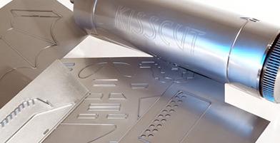 Exemple de plaque de découpe Kisscut